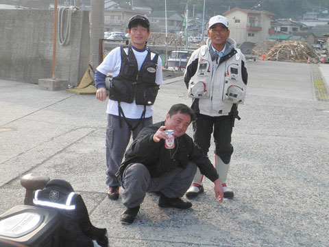 港に別府の石本さんがおられましたので、記念撮影