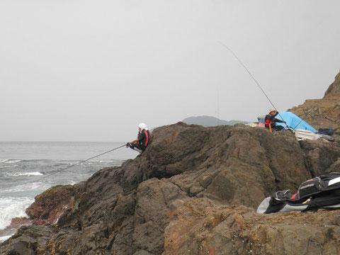 月田さんの息子さんはここで2枚ほど釣ってました