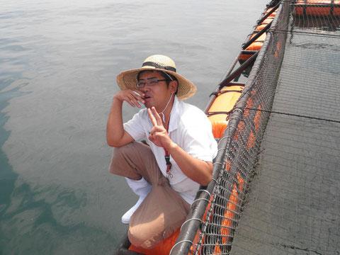 今回は筏に乗ってやってみます^^
