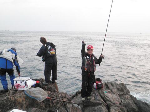 クロも釣れますが型はイマイチです