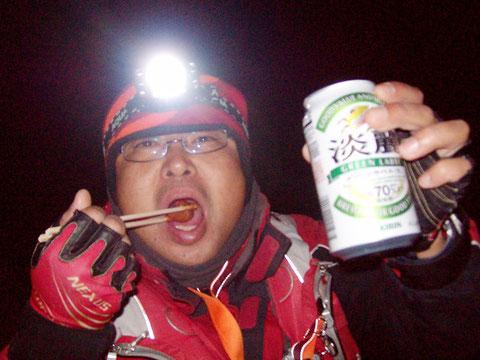 クソ寒いのに寒ビール飲んでます^^;