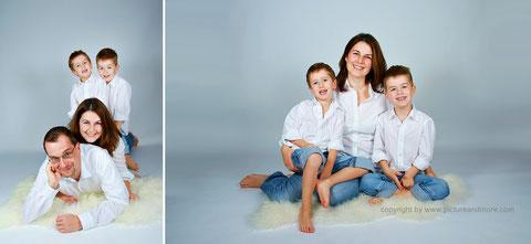 Familienshooting - www.pictureandmore.com Fotostudio Hallbergmoos Iris Besemer picture&more FOTOGRAFIE international