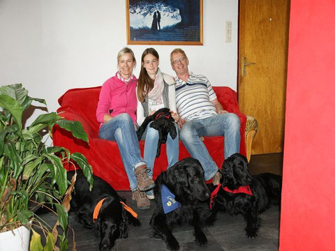Anton mit Lea und Family