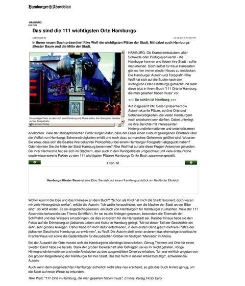 Hamburger Abendblatt, Online-Ausgabe  23.6.2012
