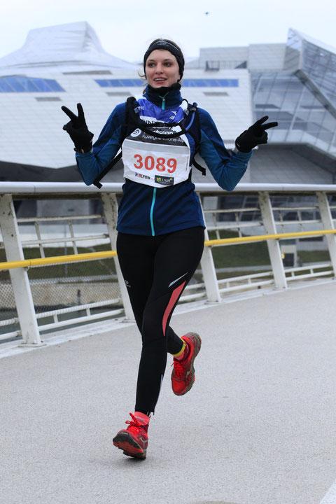 Saintelyon, running, course à pied, relais, relais 3, sportive, coureuse