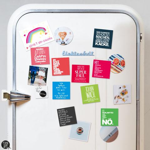 Lustige Kühlschrankmagnete mit Sprüchen bestellen