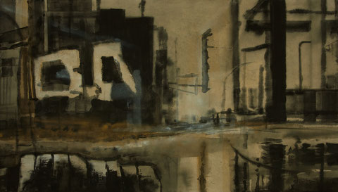 Wasteland 2013 Tempera auf Segeltuch 170 x 300 cm