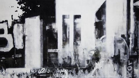 Mount Elliot Street 2012 Tempera auf Segeltuch 170 x 300 cm
