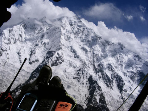 """Will flying Rakaposhi""Photo by Will Palmer"