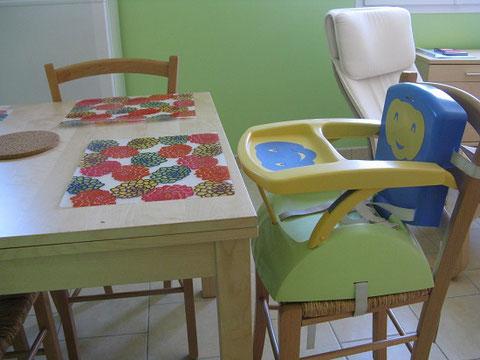 matériel pour bébé aux Gites des Camparros à Nailloux