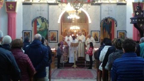 Célébration dans l'église grecque-melkite catholique