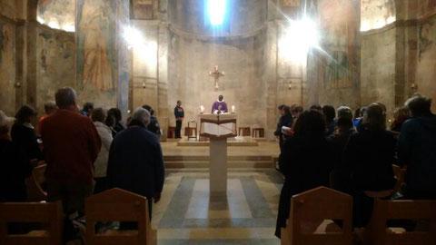 Dernière célébration, à Abu Gosh, lieu de l'Emmaüs biblique