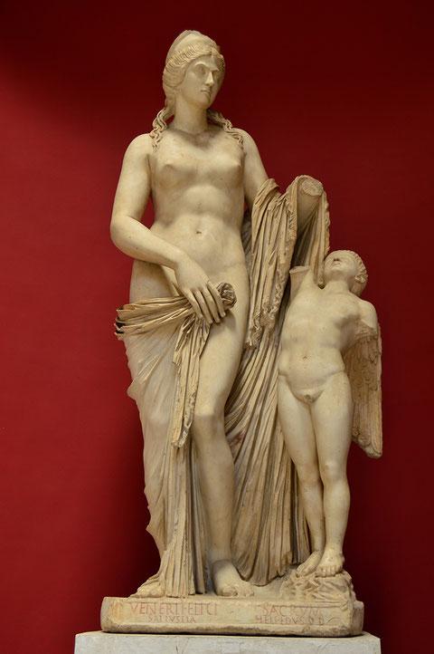 Venus Felix; Cupido; Museos Vaticanos; Afrodita; Eros; Naty Sánchez Ortega;