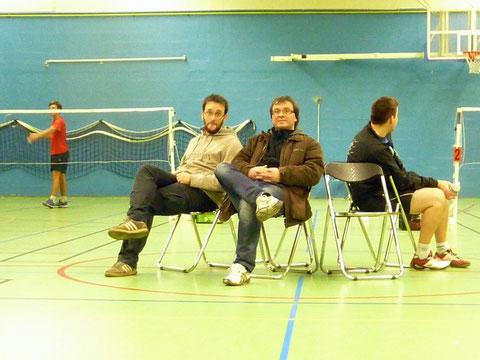 Yannick et Stéphane, nos supporters et coach du jour, en mode détente