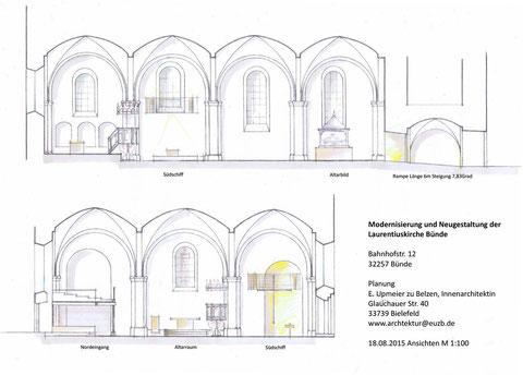 Plan zur Neugestaltung und Modernisierung der Laurentiuskirche in Bünde