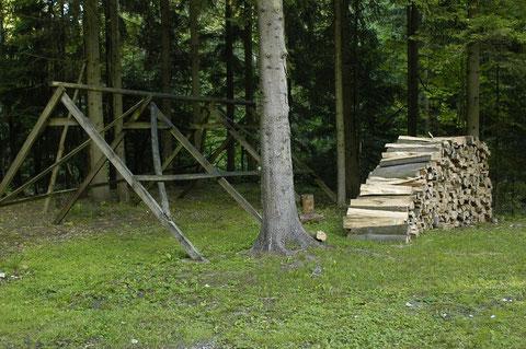 Mit der Menge Holz könnte man sicher einen ganzen Winter heizen.