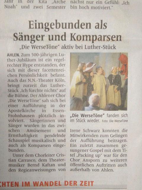 Ahlener Zeitung 23.9.2017