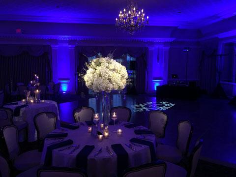 Fort Worth wedding lighting pinspotting