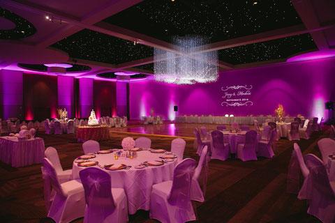 Wedding Lighting at Hurst Conference Center near Fort Worth