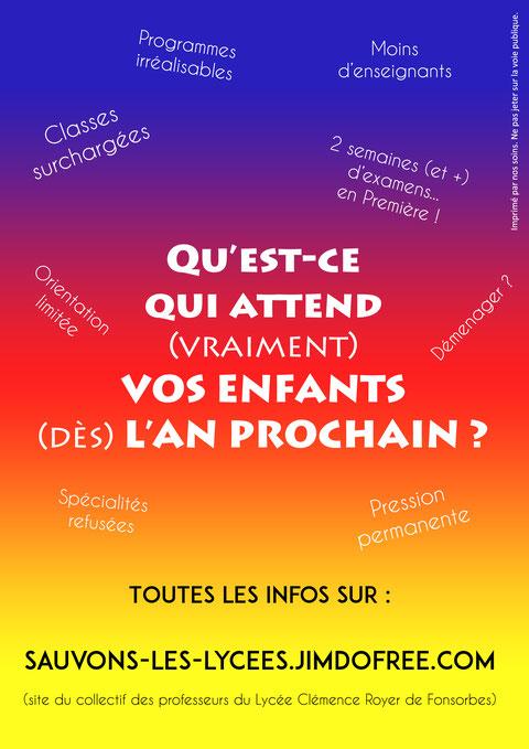 Visuel Tract Contre réforme Blanquer Lycée
