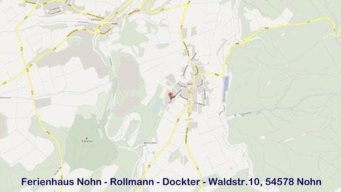 Lageplan Fewo Rollmann-Dockter, Waldstr.10, 54578 Nohn