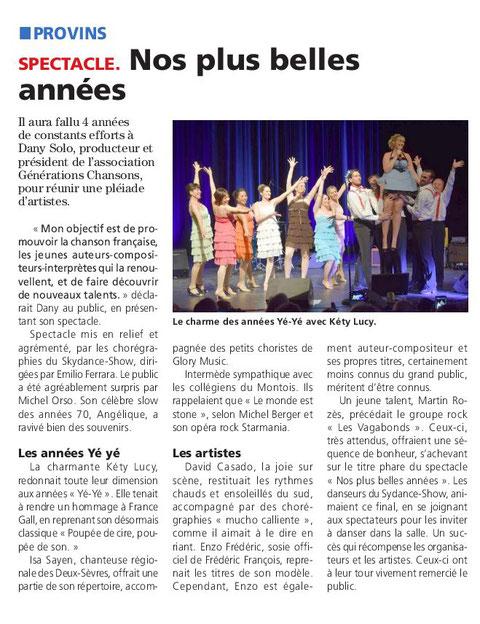 """Article du 19 Fevrier 2018 Merci au journal """"La république"""" de Seine et Marne"""