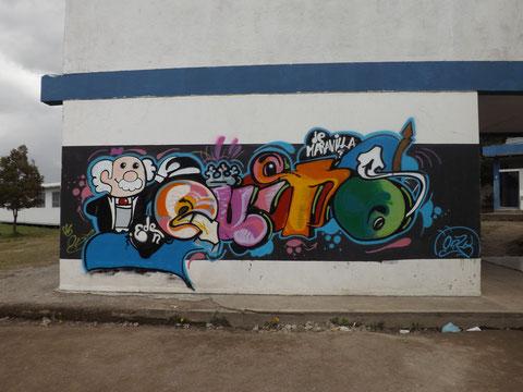 Grafiti ganador a nivel Distrito de Educación Quitumbe No.7 del señor Ariel Anilema Tercero Bachillerato Contabilidad.