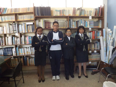 """Participantes en el Concurso """"CLICKQUITO"""": Damaris Barahona, Sedric Oña, Raimy Dulce y María Inés Badillo."""