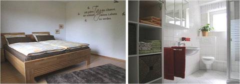 Schlafzimmer/Bad - ferienwohnung-westerwald-nistertal