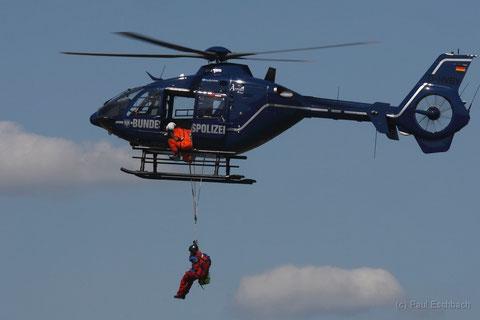 Übung von Bergwacht Bayern und Bundespolizei. Foto: PE