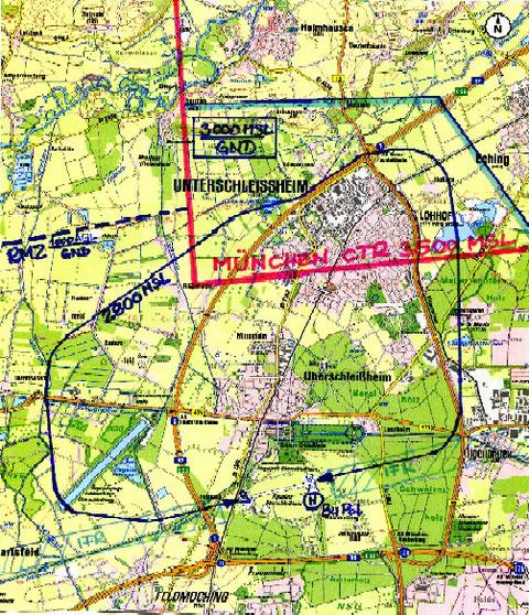 Kartenausschnitt mit freundlicher Genehmigung durch das Bayerische Landesvermessungsamt: (c) Topographische Karte 1:50000; LVG Bayern, 2625/07