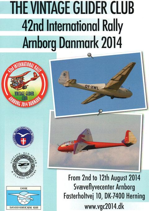 Das Plakat des diesjährigen internationalen Treffens der Oldtimer Segelflieger