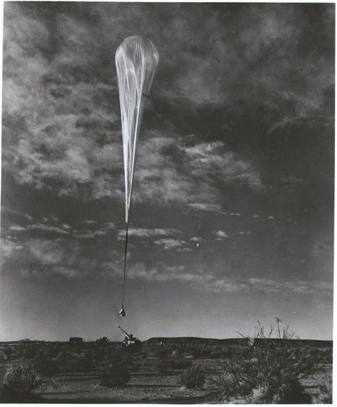 Joe Kittinger startet im Stratosphärenballon am 16. August 1960 zu seinem Rekordsprung. Quelle: Homepage Joe Kittinger