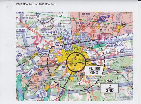 ED-R und RMZ zum Oktoberfest 2015 in München, Darstellung DFS