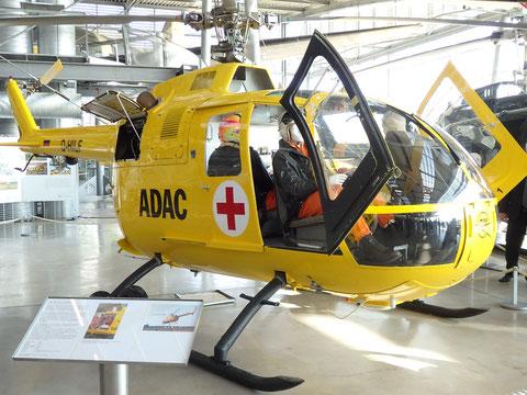 Seit 26. Oktober in der Flugwerft Schleißheim, Deutsches Museum, zu bewundern. Bölkow Bo 105 Werk-Nr. 01, aufbereitet als Christoph 1, mit dem die Luftrettung in Deutschland 1970 systematisch eingeführt wurde. Foto: jkob