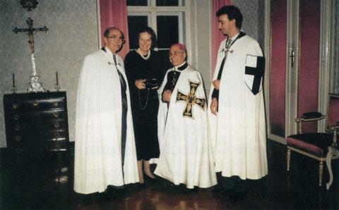 1993  Hochmeister DO P.Dr. Arnold Wieland, и почётные рыцари НО Dr. Otto von Habsburg und Se. K.H. Karl von Habsburg-Lothringen