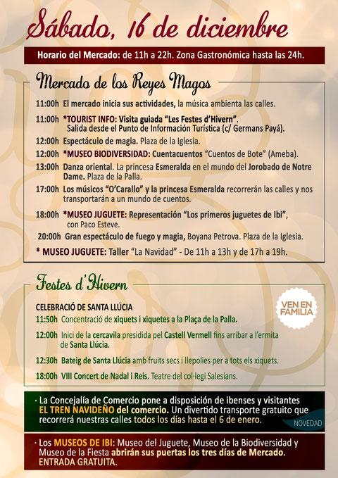 Programa del mercado de Reyes en Ibi