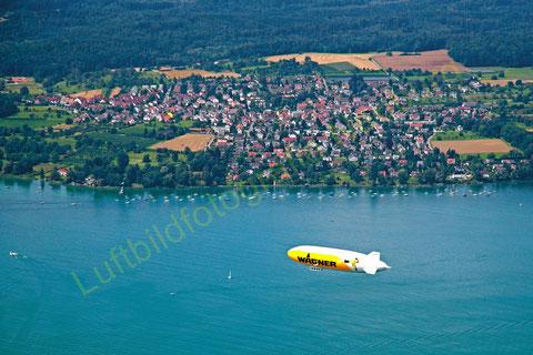 Litzelstetten, oft auch besucht von Luftschiffen ©Luftbildfotografie Neuburg