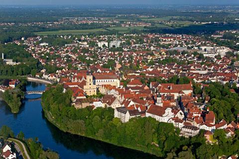 Die schöne Altstadt von Neuburg