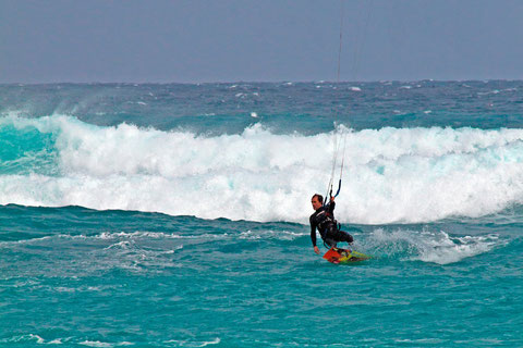 Kite-Surfen bei Fuerteventura   ©Luftbildfotografie Neuburg