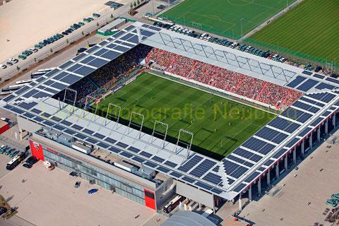 Ein schönes Stadion auf dem ehemaligen Gelände von Bayernoil