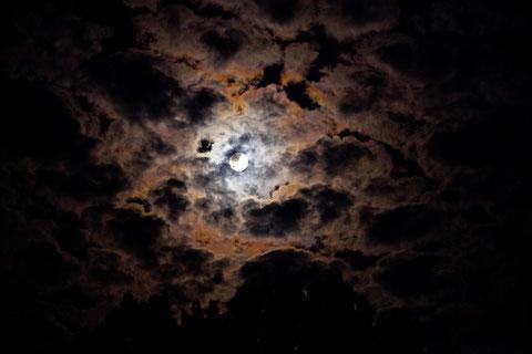 Eindrucksvoller Nachthimmel bei Vollmond   ©Luftbildfotografie Neuburg