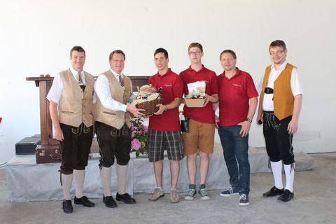 Kpm. Heinz Tappler (Stmk.), Obmann Jürgen Gaisberger (Stmk.), Dominik Berger, Ulrich Galander, Kpm. Herbert Stockinger, Obmann Laurentius L. Mayrhofer