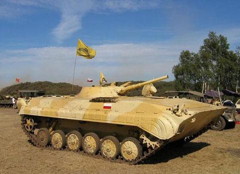 Dieser BMP 1 A ist in Privatbesitz, hier bei einem Militärfahrzeugtreffen in Polen.