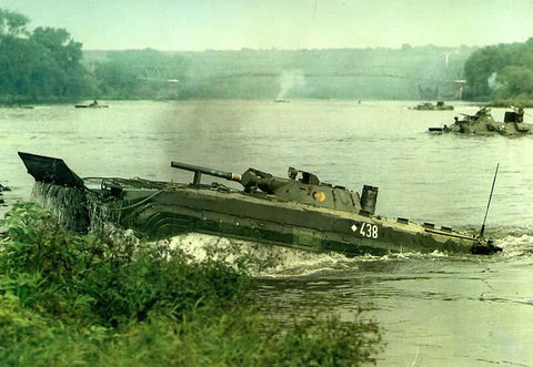 Wasserfahrt eines BMP des MSR 7
