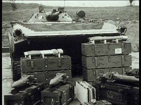 Das Bewaffnungsarsenal des BMP ohne die strukturmäßige Bewaffnung der MSG