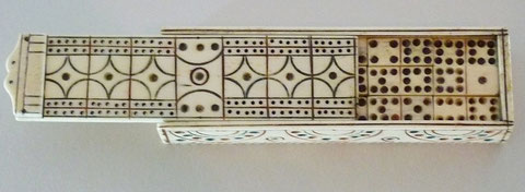 Prisoner of war folk art domino games box
