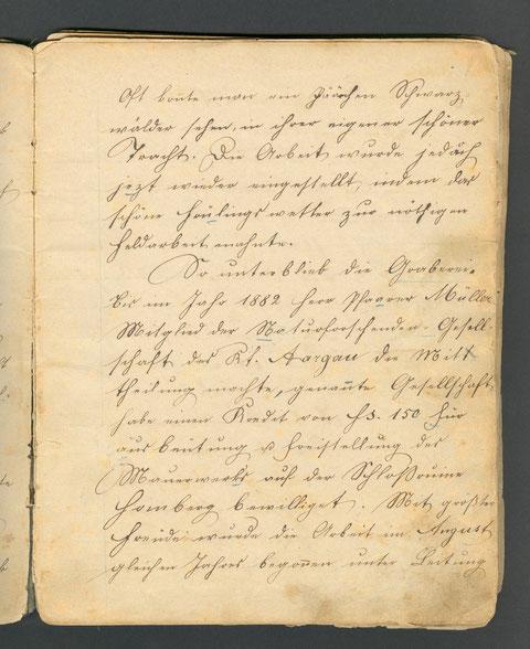 Ausgrabung 1869 / 1882 (p.7)