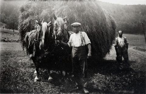 """Heufuder der Familie Walde, """"Sunnewirts""""   (Juni 1936)"""