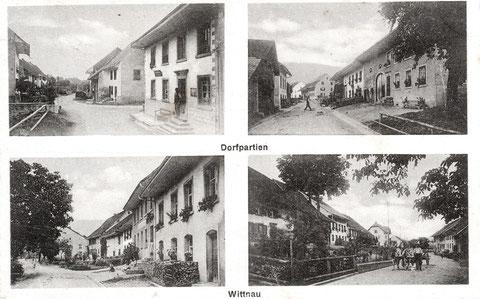 Vier Dorfpartien (um 1917)